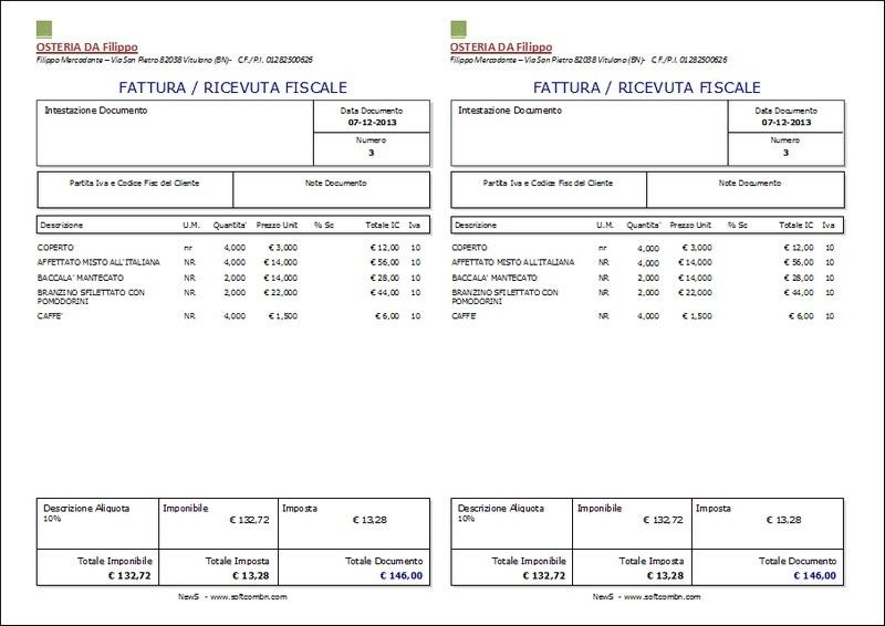 News pro ii utilizzare i prezzi di vendita con iva for Codice fiscale da stampare